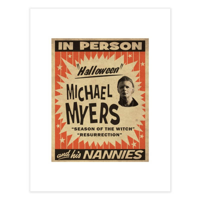 Michael in person Home Fine Art Print by oldtee's Artist Shop