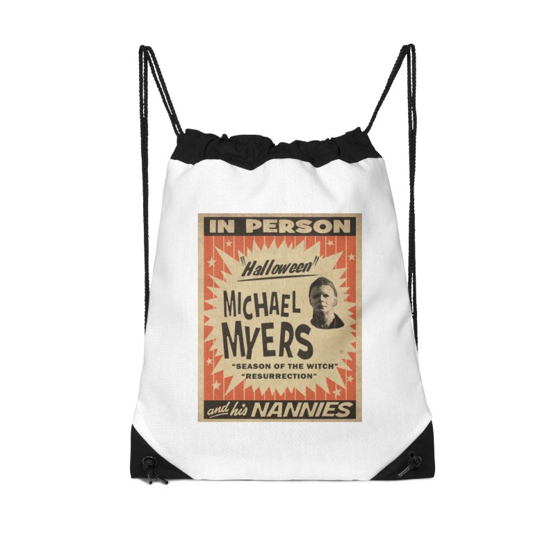 Michael in person Accessories Drawstring Bag Bag by oldtee's Artist Shop