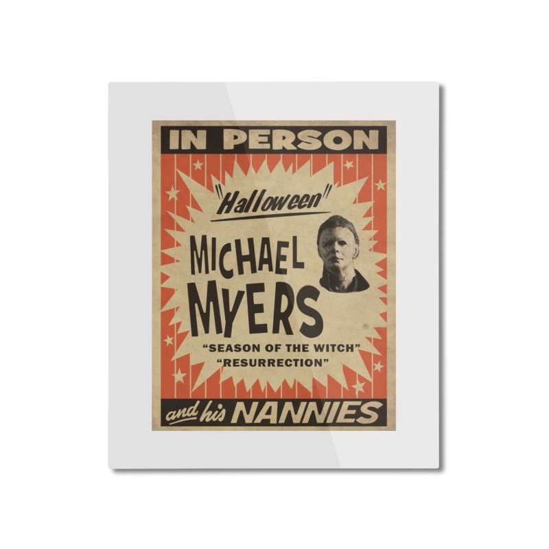 Michael in person Home Mounted Aluminum Print by oldtee's Artist Shop