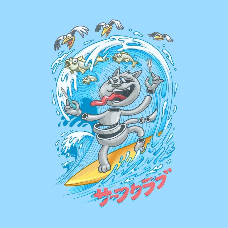 Surfer cat fishing   by oleggert's Artist Shop