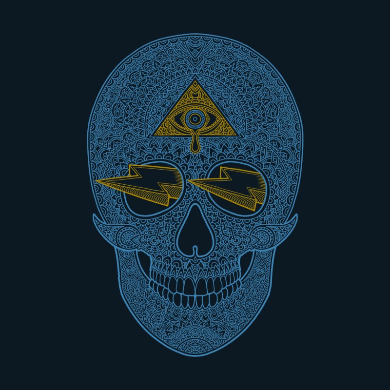 Skull-seeing None  by oleggert's Artist Shop