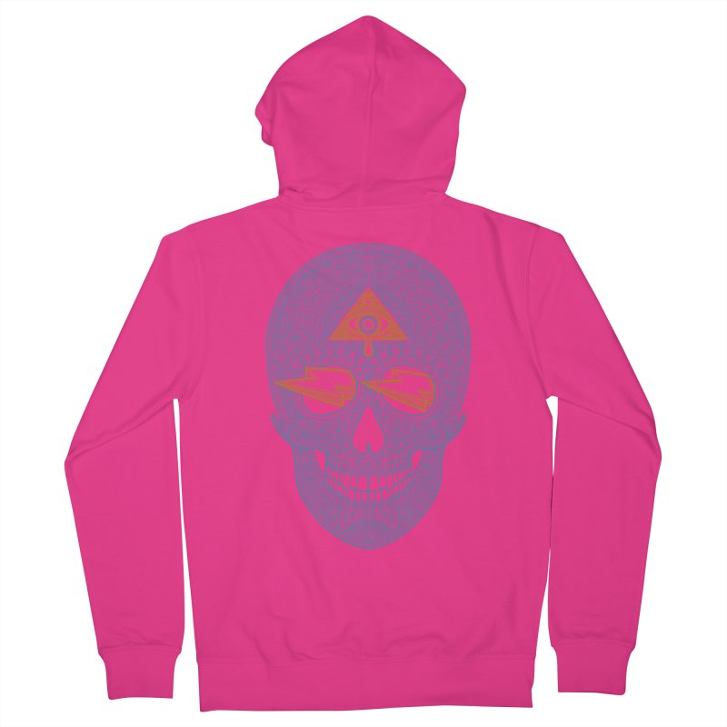 Skull-seeing Men's Zip-Up Hoody by oleggert's Artist Shop