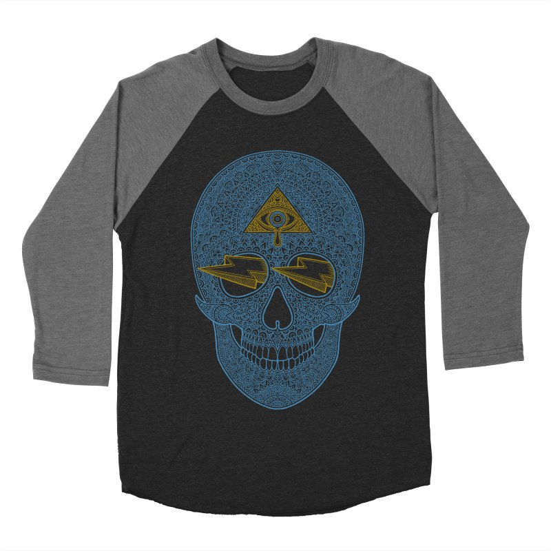 Skull-seeing Men's Baseball Triblend T-Shirt by oleggert's Artist Shop
