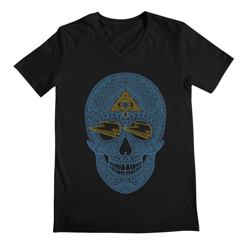 Skull-seeing Men's V-Neck by oleggert's Artist Shop