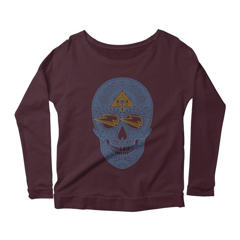 Skull-seeing Women's Longsleeve Scoopneck  by oleggert's Artist Shop