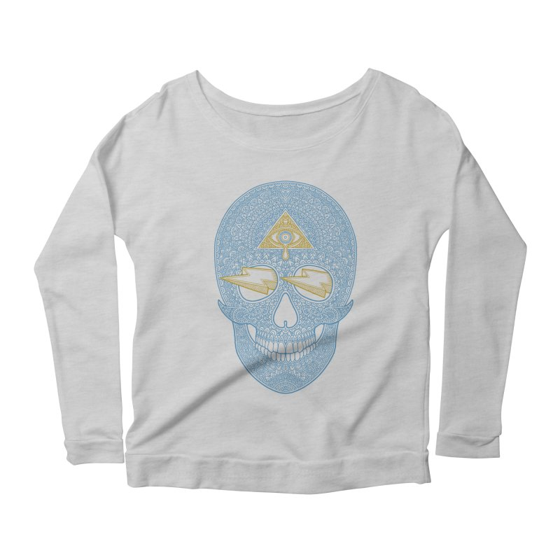 Skull-seeing Women's Longsleeve Scoopneck  by oleggert's Artist Shop