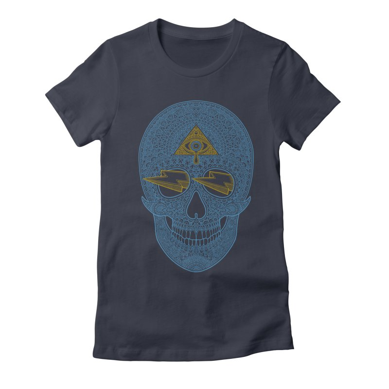 Skull-seeing Women's Fitted T-Shirt by oleggert's Artist Shop