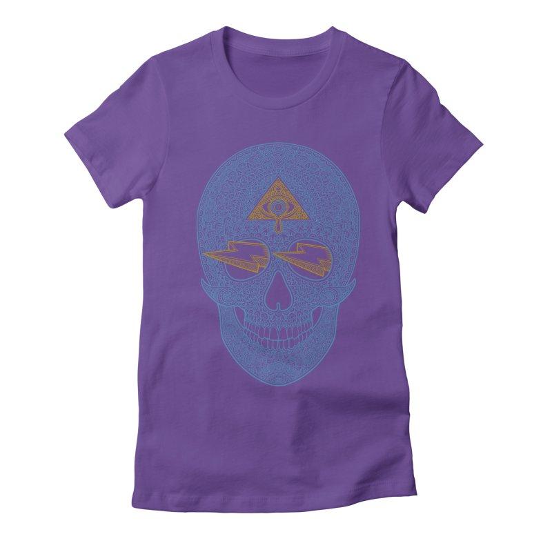 Skull-seeing Women's Fitted T-Shirt by oleggert's Artist Shop