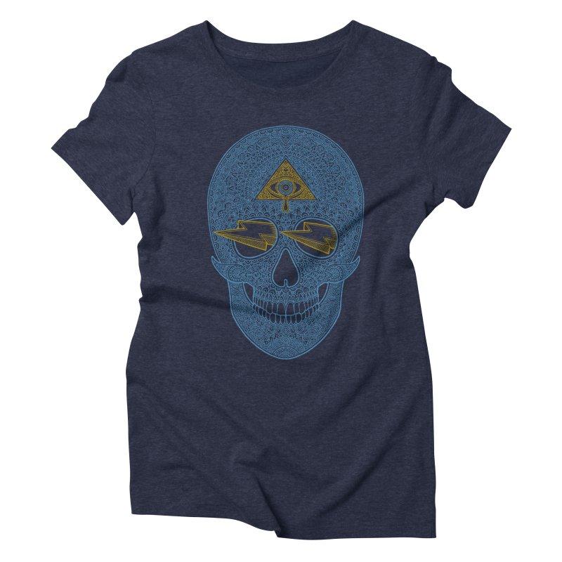 Skull-seeing Women's Triblend T-shirt by oleggert's Artist Shop