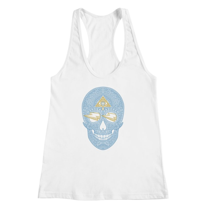 Skull-seeing Women's Racerback Tank by oleggert's Artist Shop