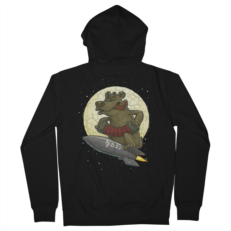 Bear Men's Zip-Up Hoody by oleggert's Artist Shop