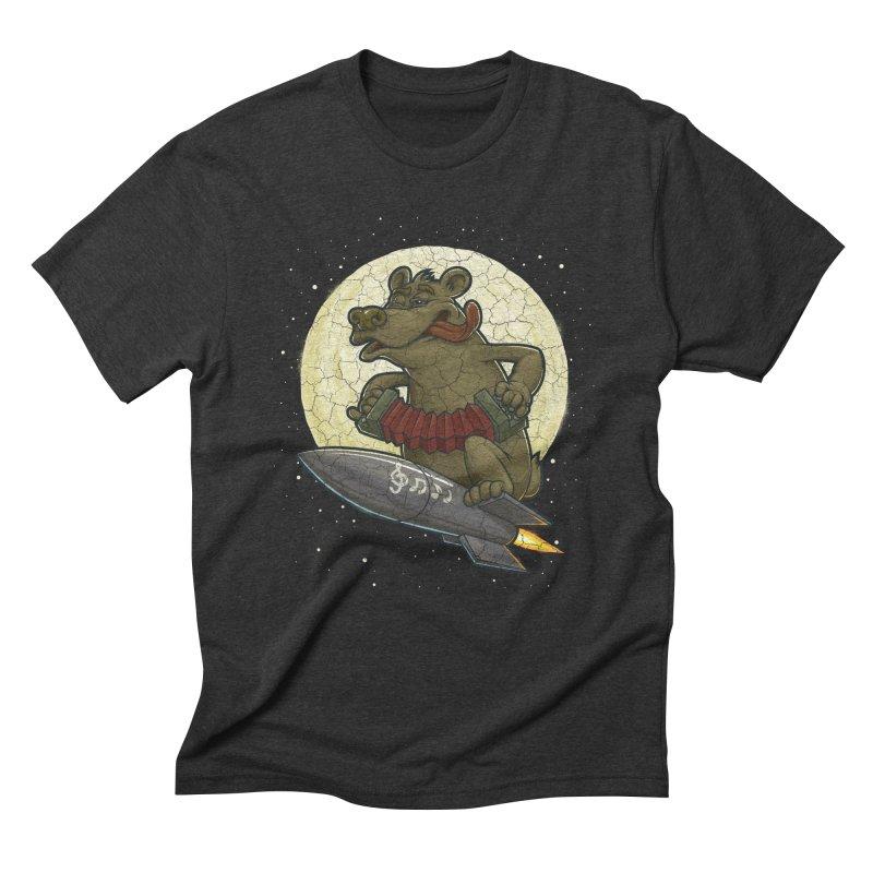 Bear Men's Triblend T-Shirt by oleggert's Artist Shop