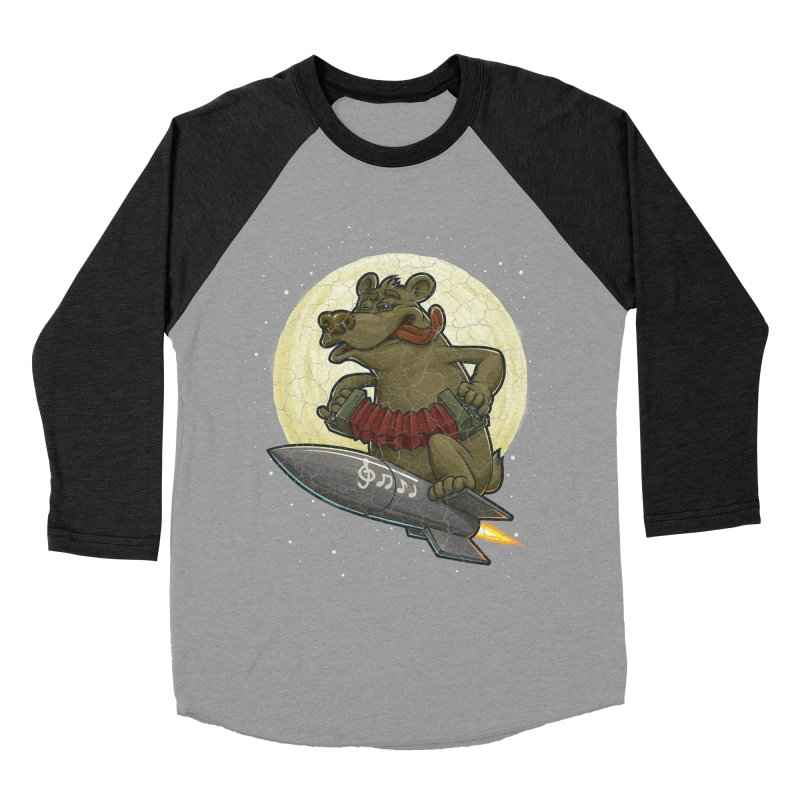 Bear Women's Baseball Triblend T-Shirt by oleggert's Artist Shop