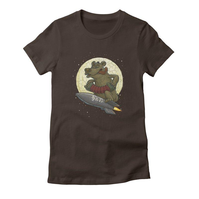Bear Women's Fitted T-Shirt by oleggert's Artist Shop