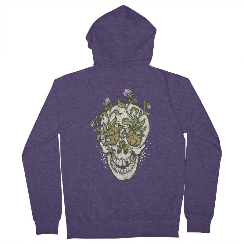 Skull Men's Zip-Up Hoody by oleggert's Artist Shop