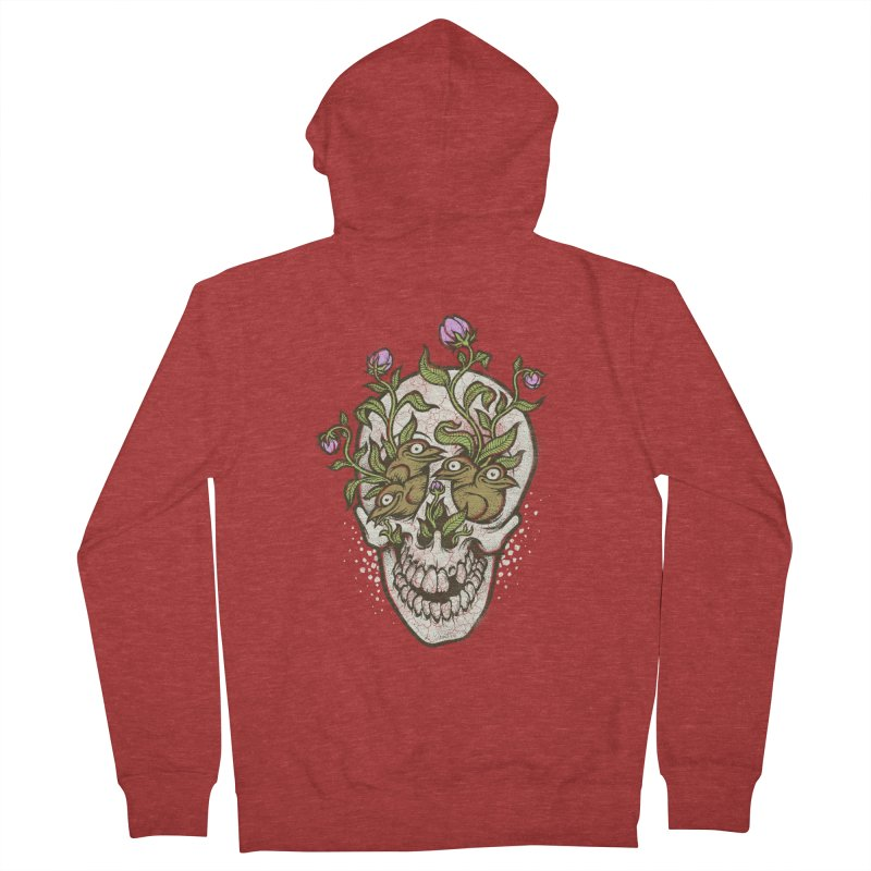 Skull Men's Zip-Up Hoody by oleggert's Artist Shop