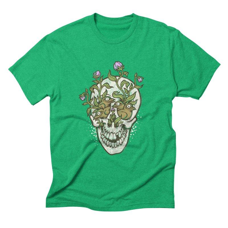 Skull Men's Triblend T-Shirt by oleggert's Artist Shop