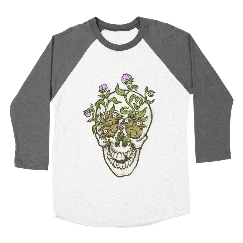 Skull Men's Baseball Triblend T-Shirt by oleggert's Artist Shop
