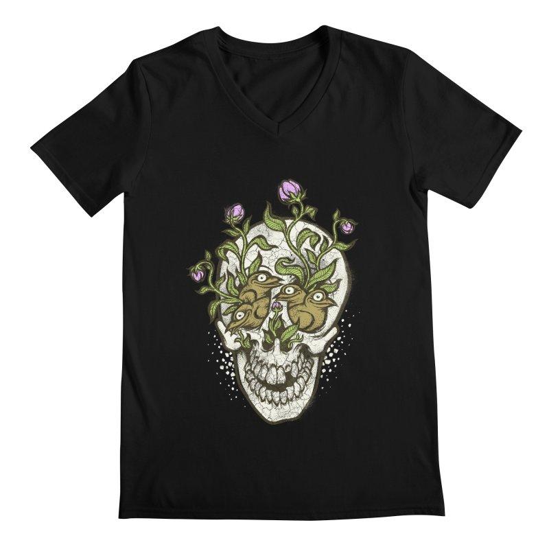 Skull Men's V-Neck by oleggert's Artist Shop