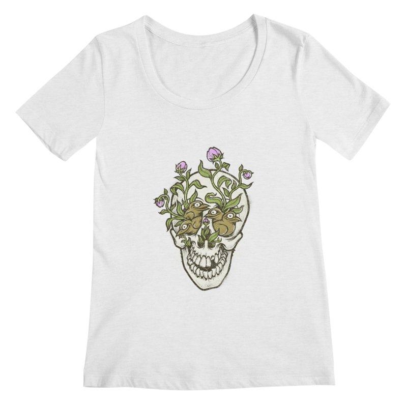 Skull Women's Scoopneck by oleggert's Artist Shop