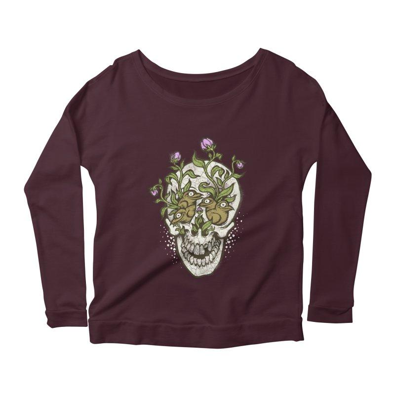 Skull Women's Longsleeve Scoopneck  by oleggert's Artist Shop