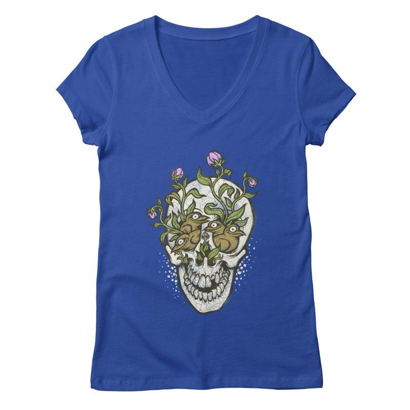 Skull Women's V-Neck by oleggert's Artist Shop