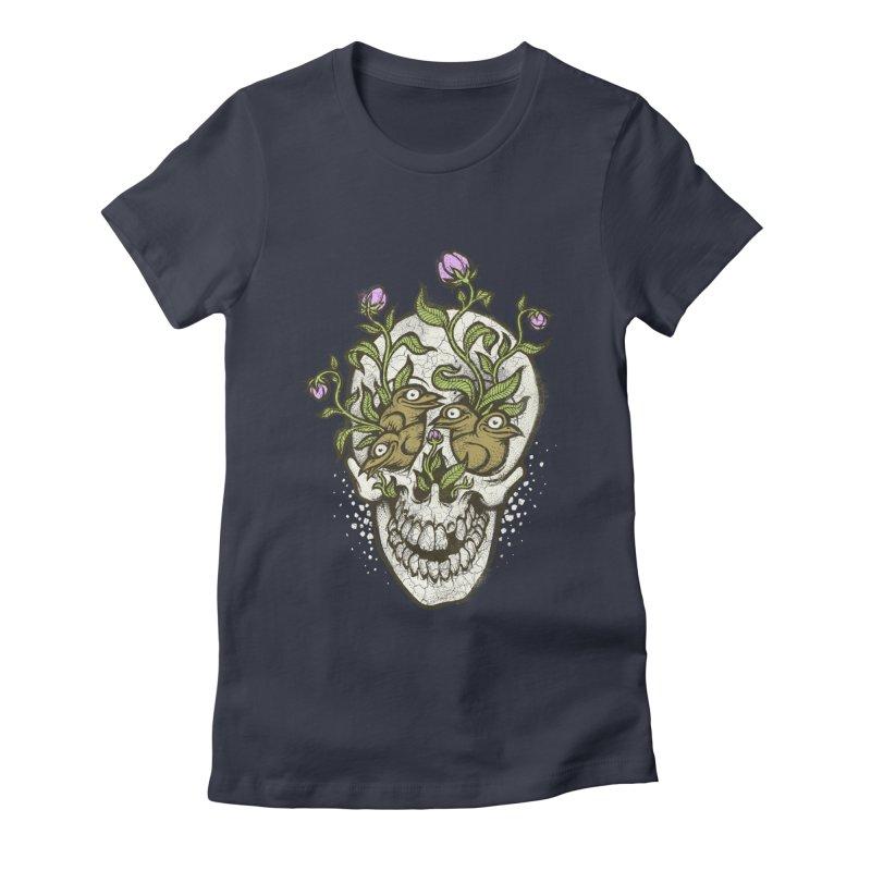 Skull Women's Fitted T-Shirt by oleggert's Artist Shop