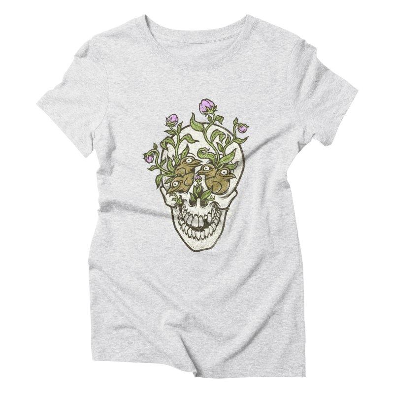 Skull Women's Triblend T-shirt by oleggert's Artist Shop