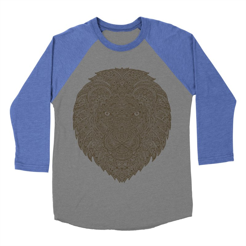 Lion Women's Baseball Triblend T-Shirt by oleggert's Artist Shop