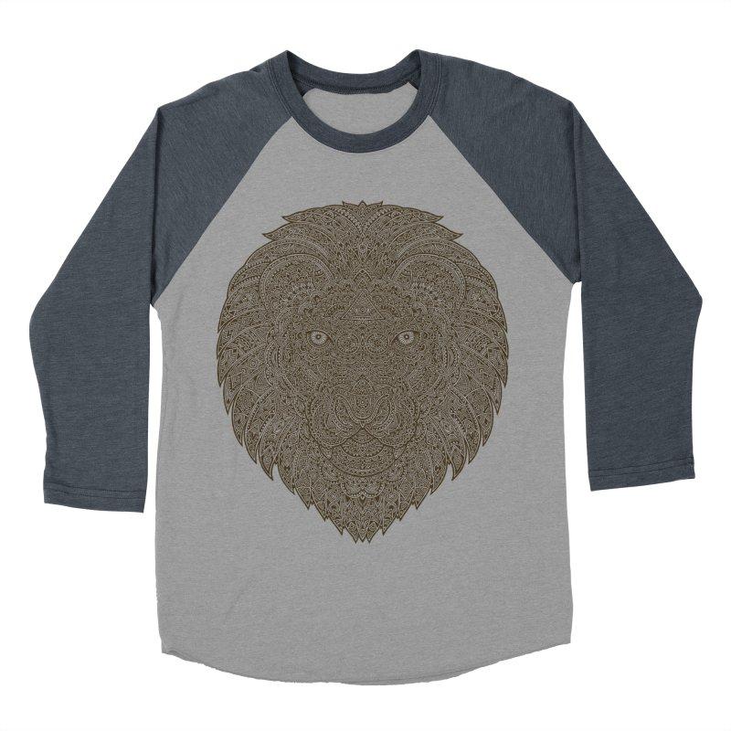 Lion Women's Baseball Triblend T-Shirt by oleggert's Artist Shop