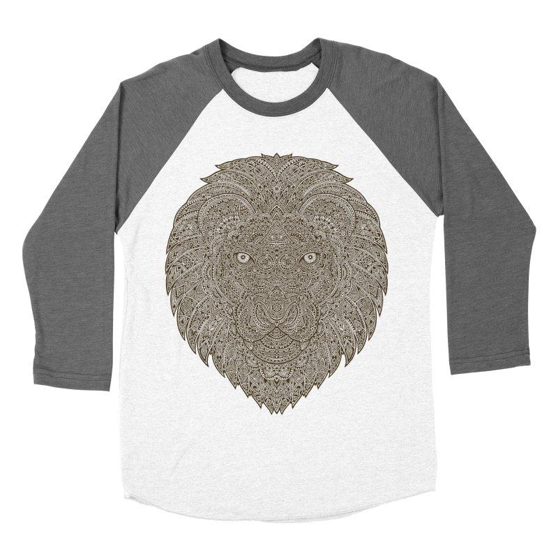 Lion Men's Baseball Triblend T-Shirt by oleggert's Artist Shop