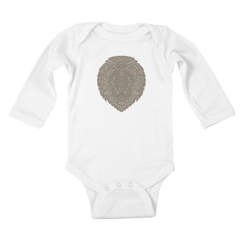 Lion Kids Baby Longsleeve Bodysuit by oleggert's Artist Shop