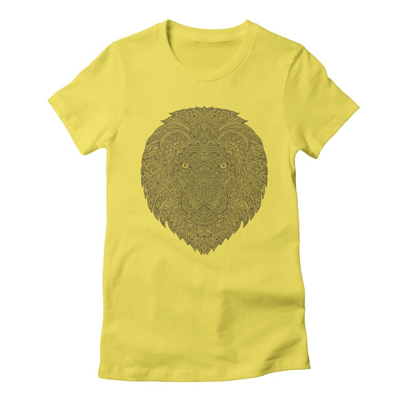 Lion Women's Fitted T-Shirt by oleggert's Artist Shop