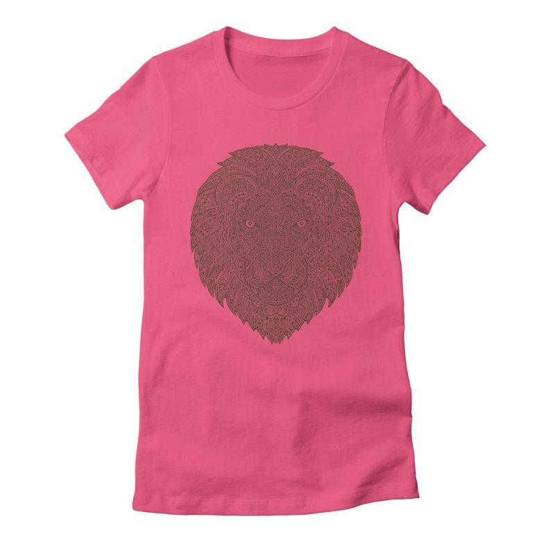Lion Women's Fitted T-Shirt by oleggert's Artist Shop