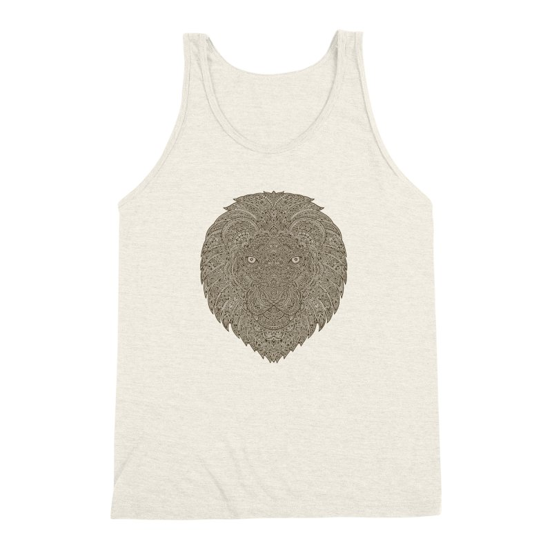 Lion Men's Triblend Tank by oleggert's Artist Shop