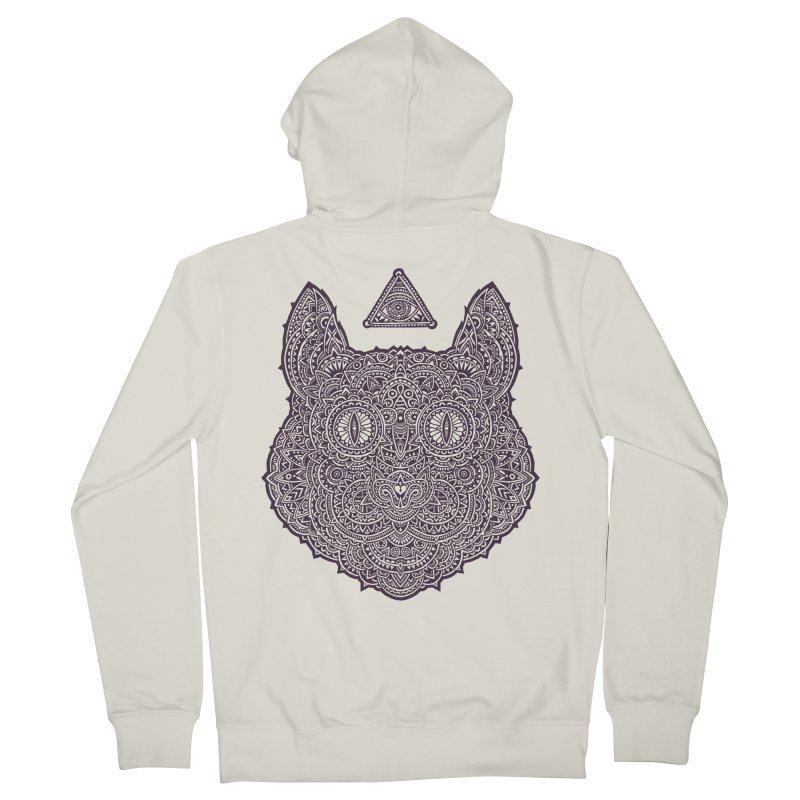 Cat Men's Zip-Up Hoody by oleggert's Artist Shop