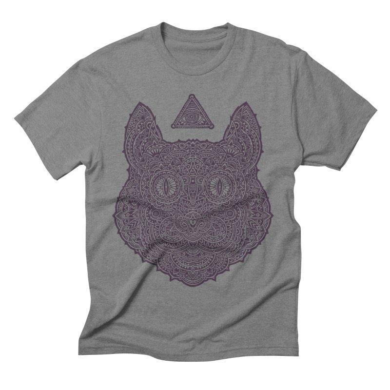 Cat Men's Triblend T-shirt by oleggert's Artist Shop