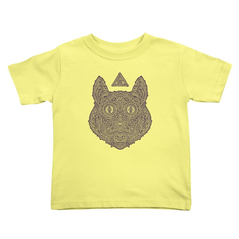 Cat Kids Toddler T-Shirt by oleggert's Artist Shop