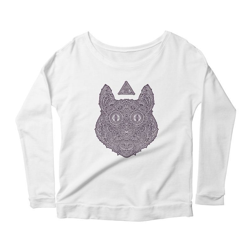 Cat Women's Longsleeve Scoopneck  by oleggert's Artist Shop