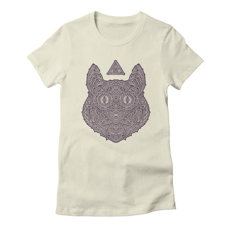 Cat Women's Fitted T-Shirt by oleggert's Artist Shop