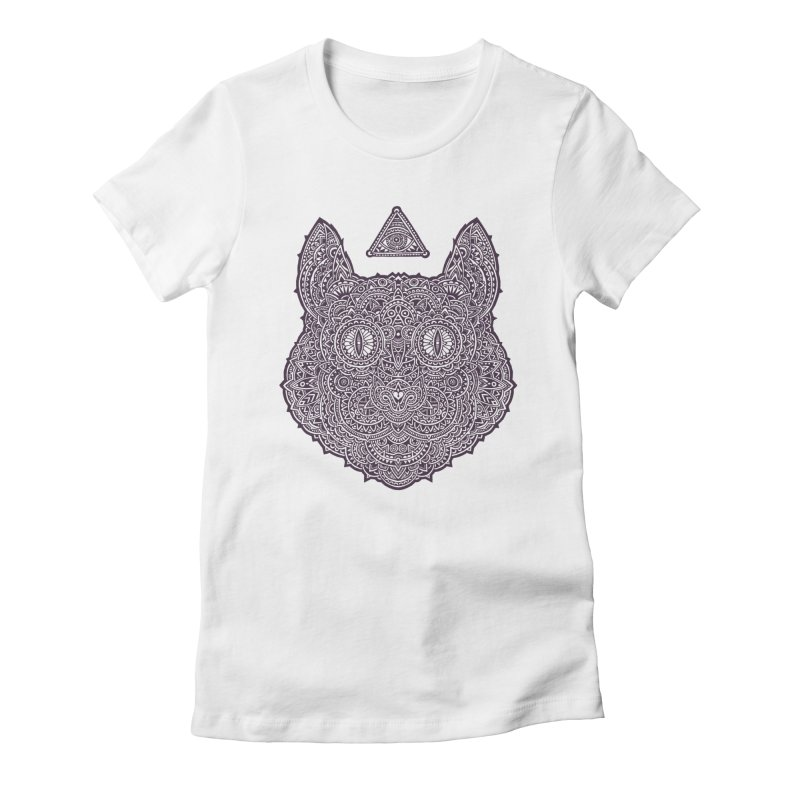 Cat Women's Fitted T-Shirt by oleggert's Artist Shop