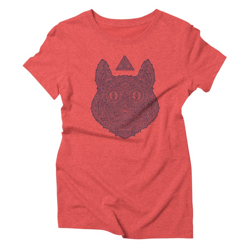 Cat Women's Triblend T-Shirt by oleggert's Artist Shop