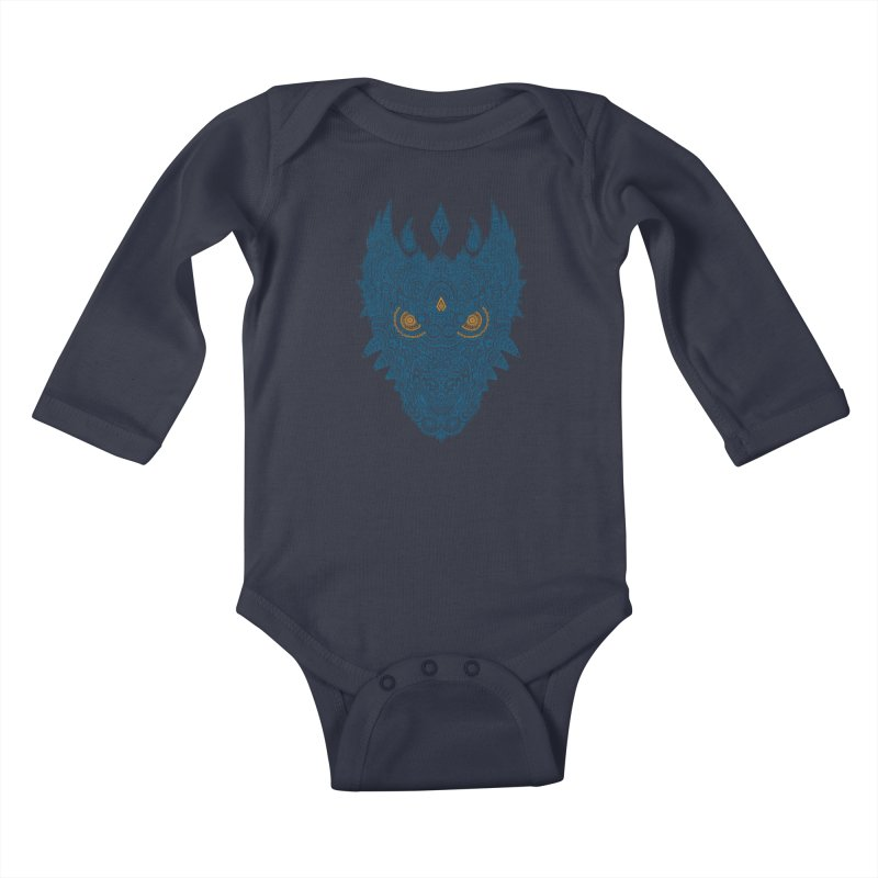 Space dragon Kids Baby Longsleeve Bodysuit by oleggert's Artist Shop