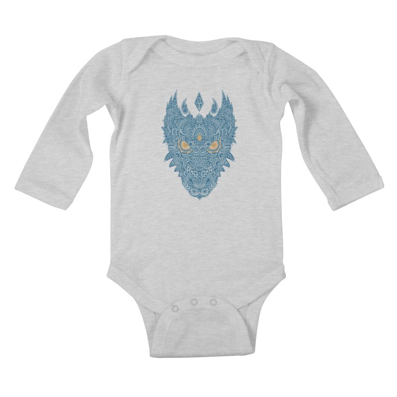 Space dragon Kids Baby Longsleeve Bodysuit by oleggert's Artist Shop