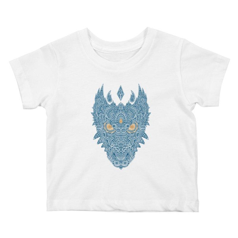 Space dragon Kids Baby T-Shirt by oleggert's Artist Shop