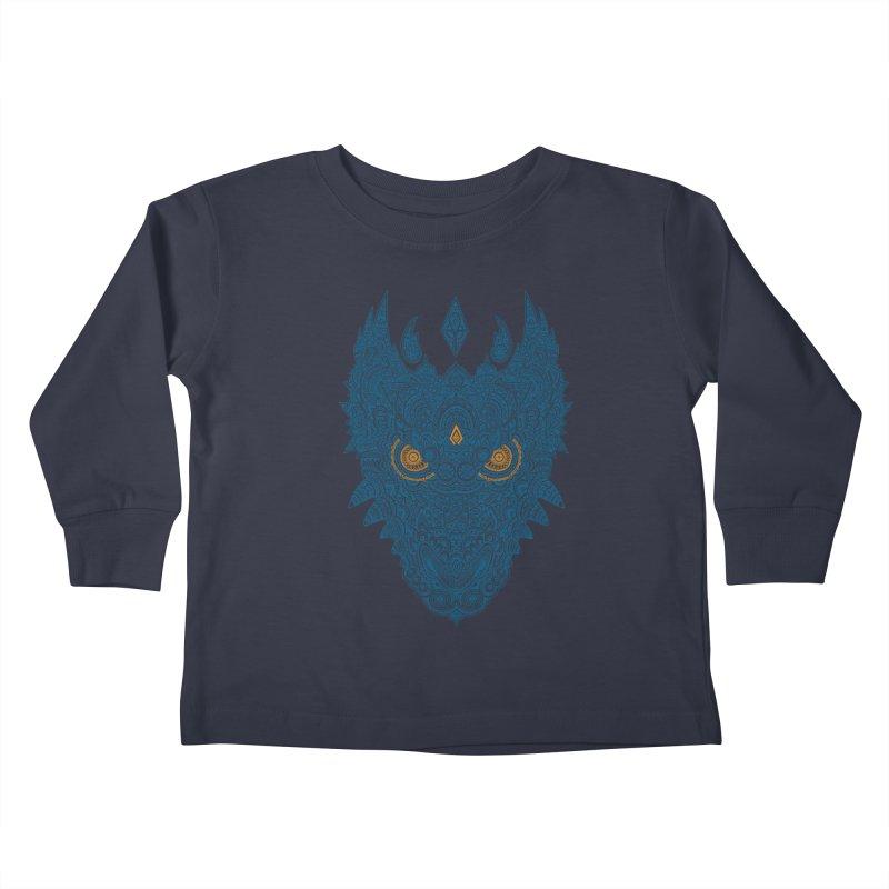 Space dragon Kids Toddler Longsleeve T-Shirt by oleggert's Artist Shop