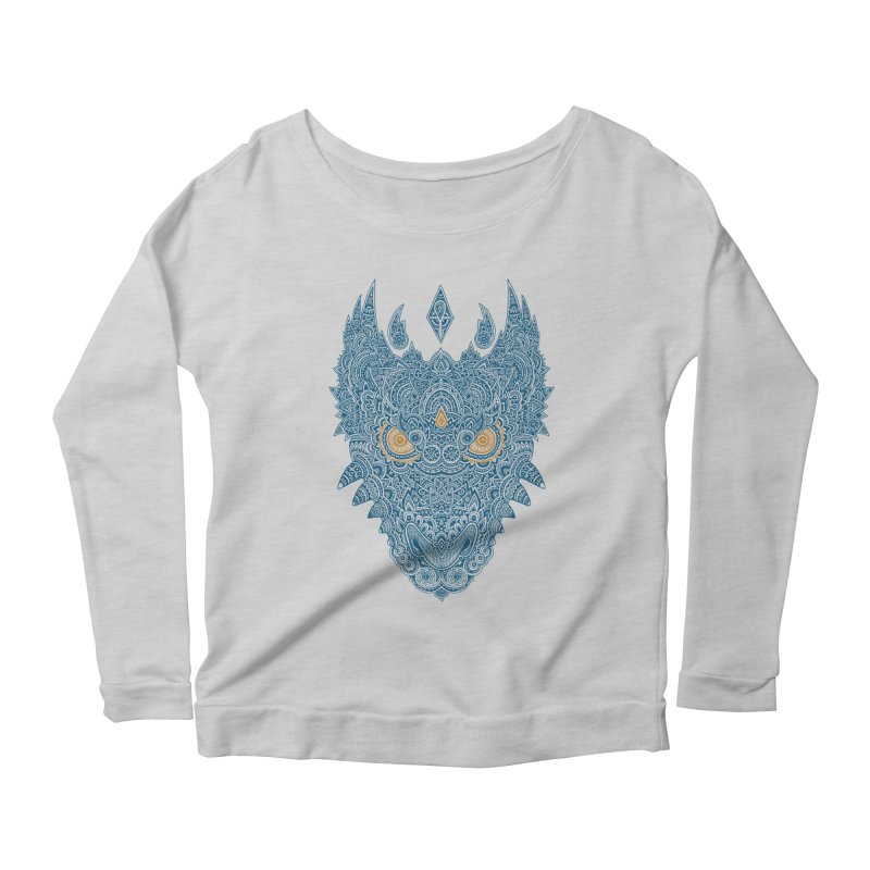 Space dragon Women's Longsleeve Scoopneck  by oleggert's Artist Shop