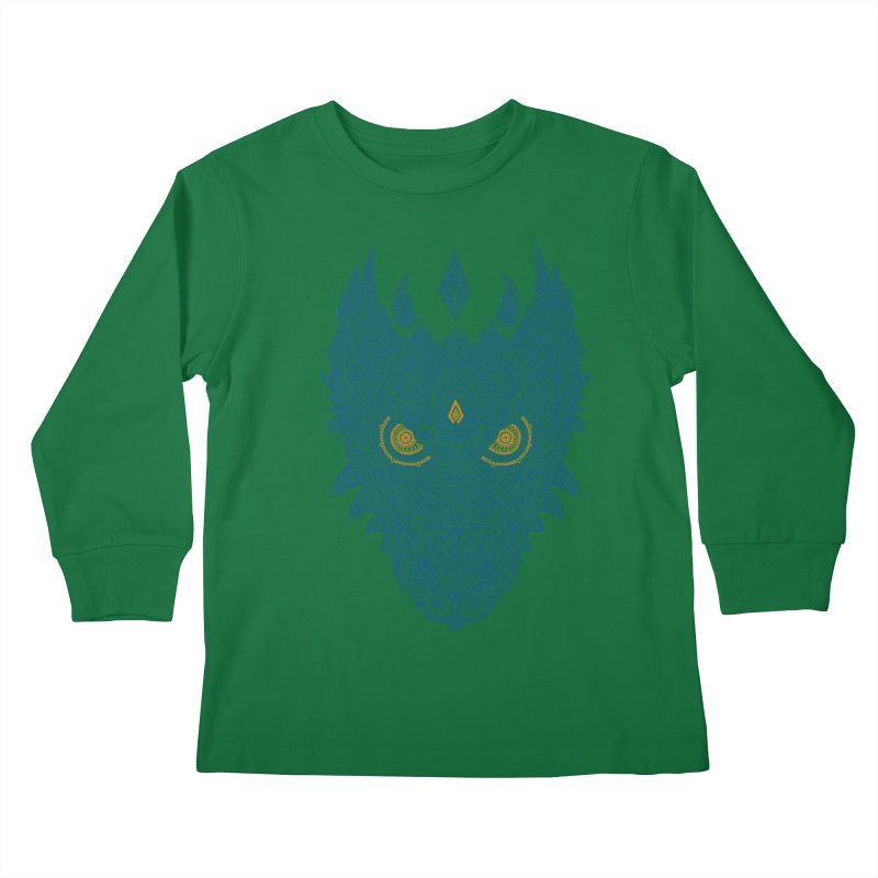 Space dragon Kids Longsleeve T-Shirt by oleggert's Artist Shop