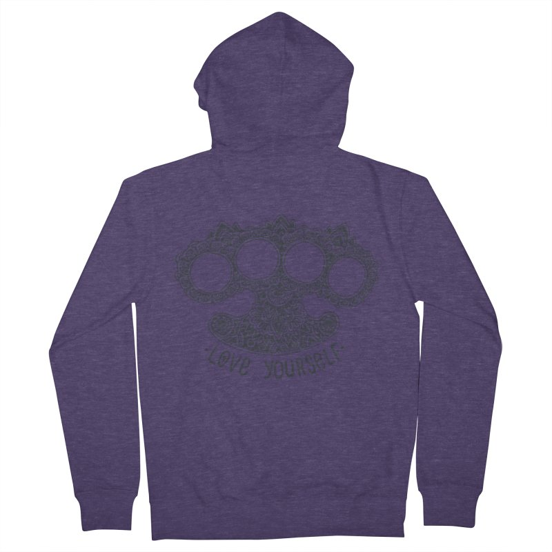 Love yourself Men's Zip-Up Hoody by oleggert's Artist Shop