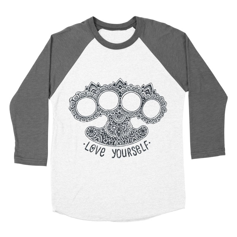 Love yourself Men's Baseball Triblend T-Shirt by oleggert's Artist Shop